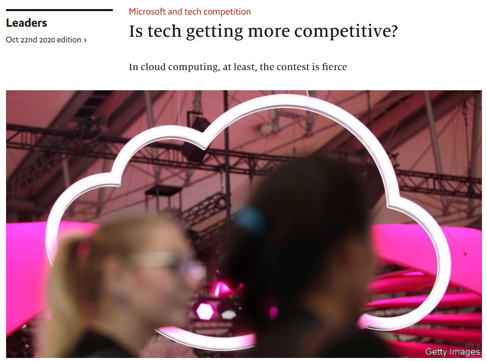 Is tech getting more competitive 20201022