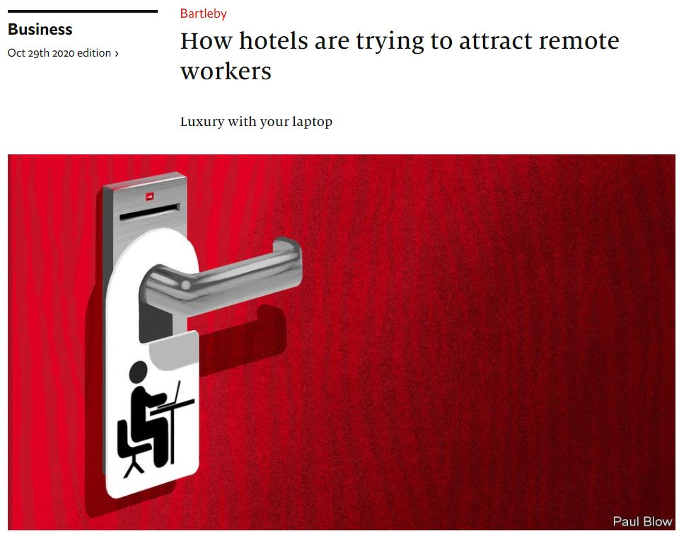 How hotels are trying to attract remote workers 20201029