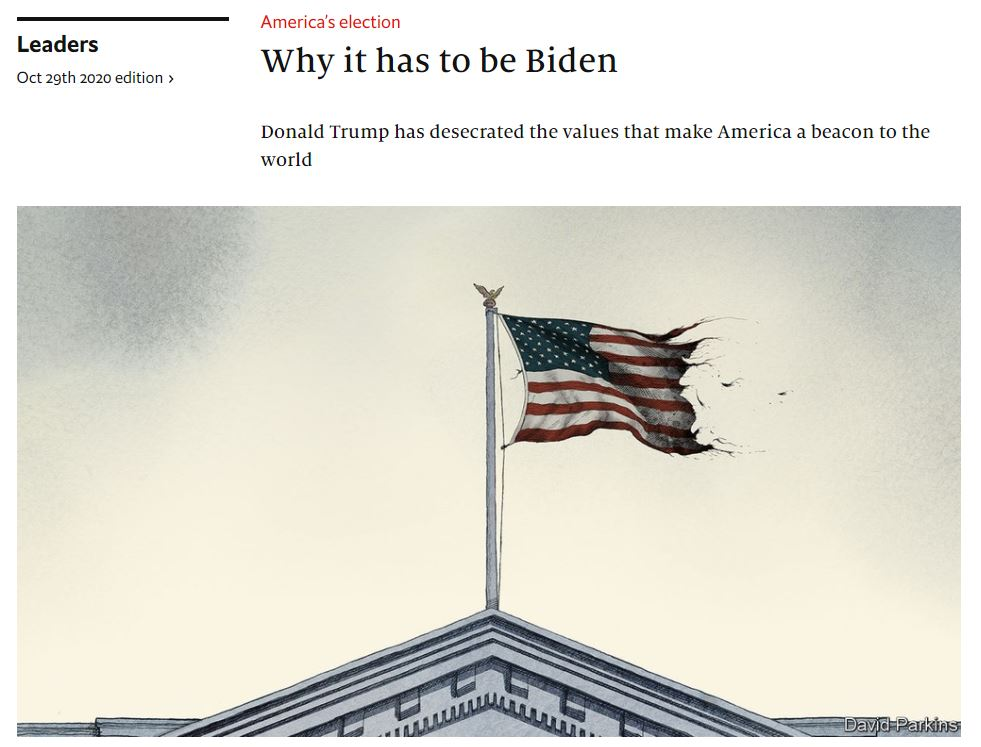 Why it has to be Biden 20201029