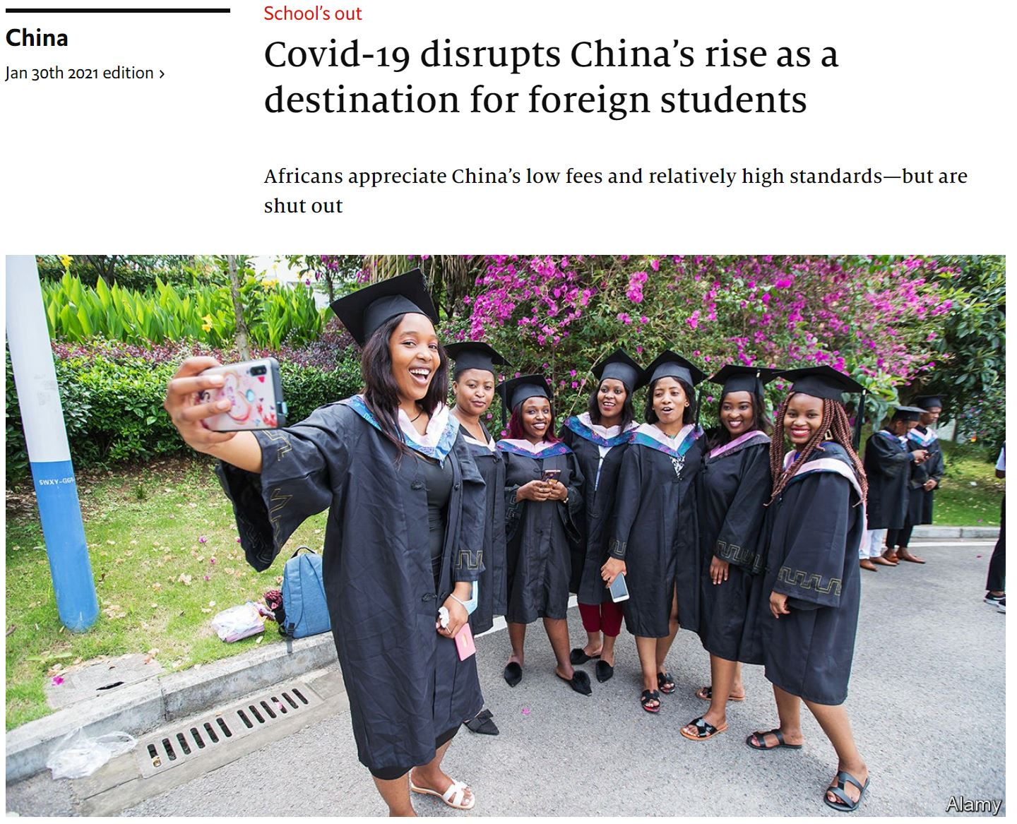 economist_2021-01-30-Covid-19 disrupts China's rise as a destination for foreign students