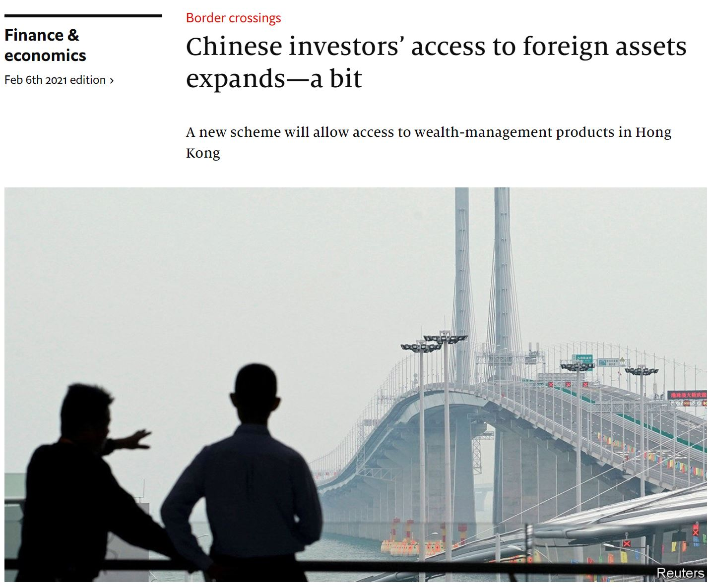 economist_2021-02-06-Chinese investors' access to foreign assets expands—a bit